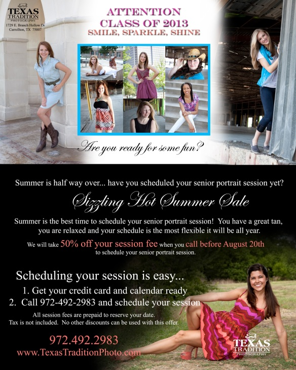 Carrollton Plano Frisco Coppell senior portrait photographer