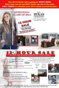 12 hour sale cc