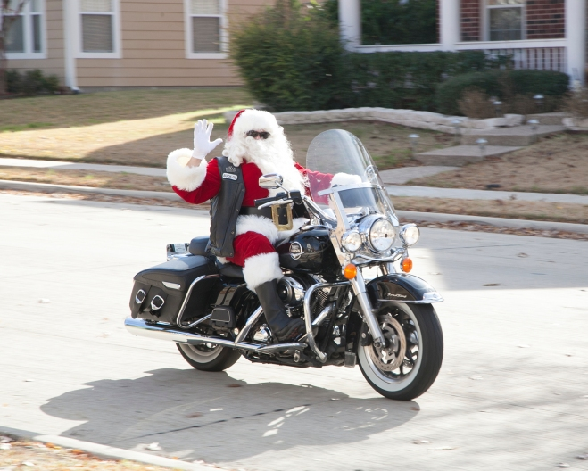 Santa on Harley